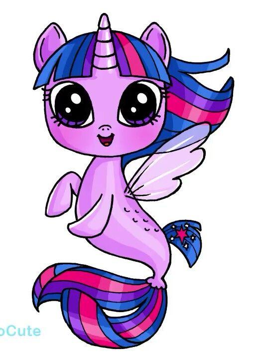 Twilight Sp Seapony Kawaii Desenhos Fofos Desenhos