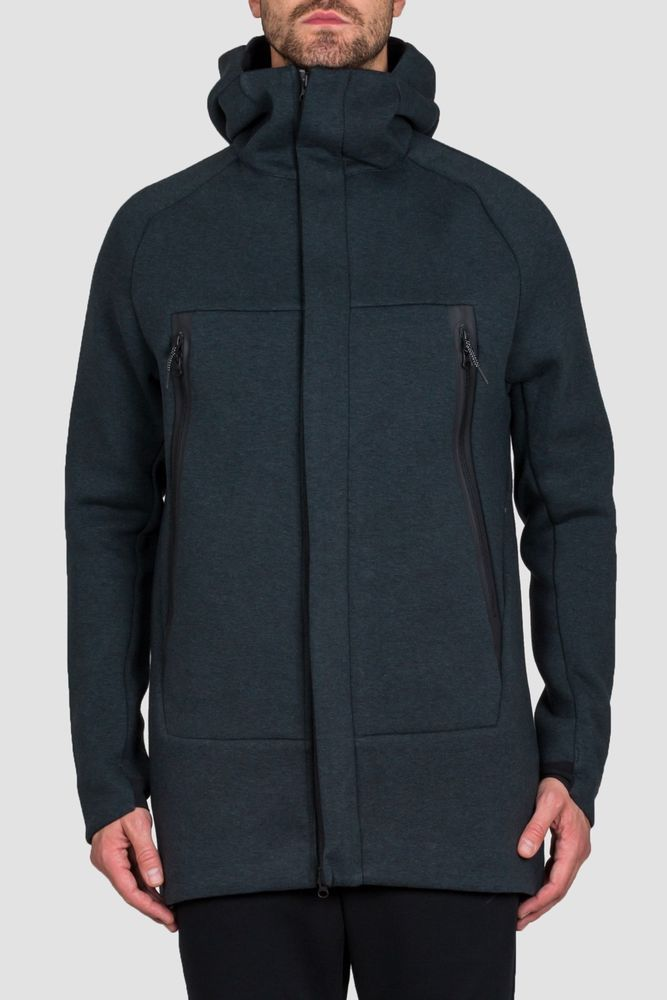 dc1f8c804c10 NWT Men NIKE Sportswear Tech Fleece Parka Zip Jacket Coat Green ...