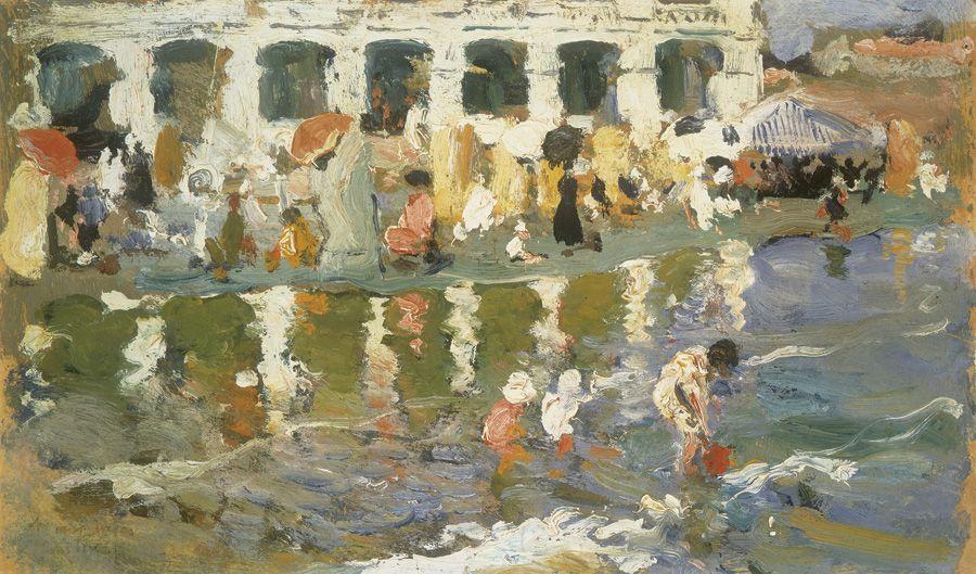 """Cecilio Pla. """"Playa de Las Arenas"""", c. 1924-1925. Colección Carmen Thyssen-Bornemisza en depósito en el Museo Thyssen-Bornemisza, Madrid"""