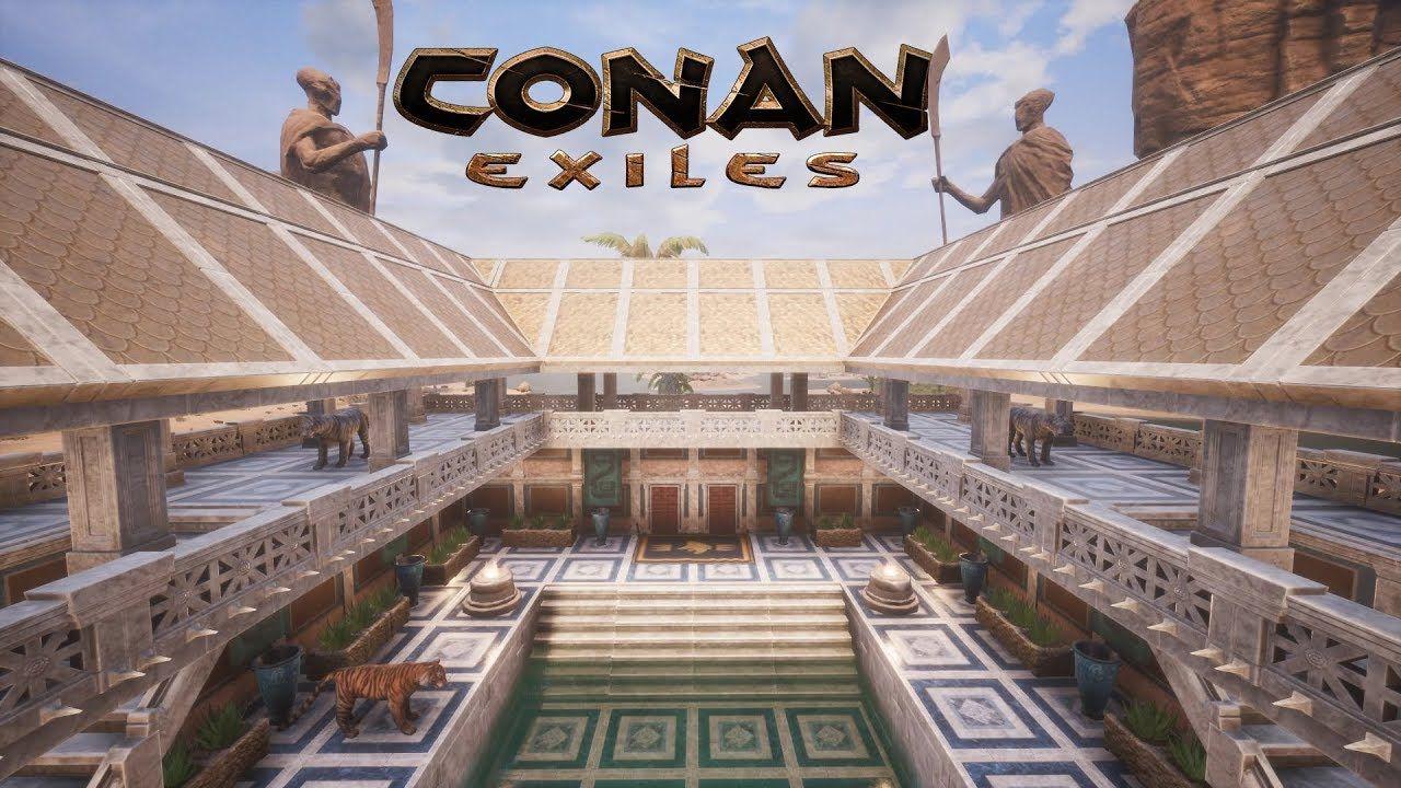 Conan Exiles Aquilonian Bath House Speed Build Conan Exiles Conan Building
