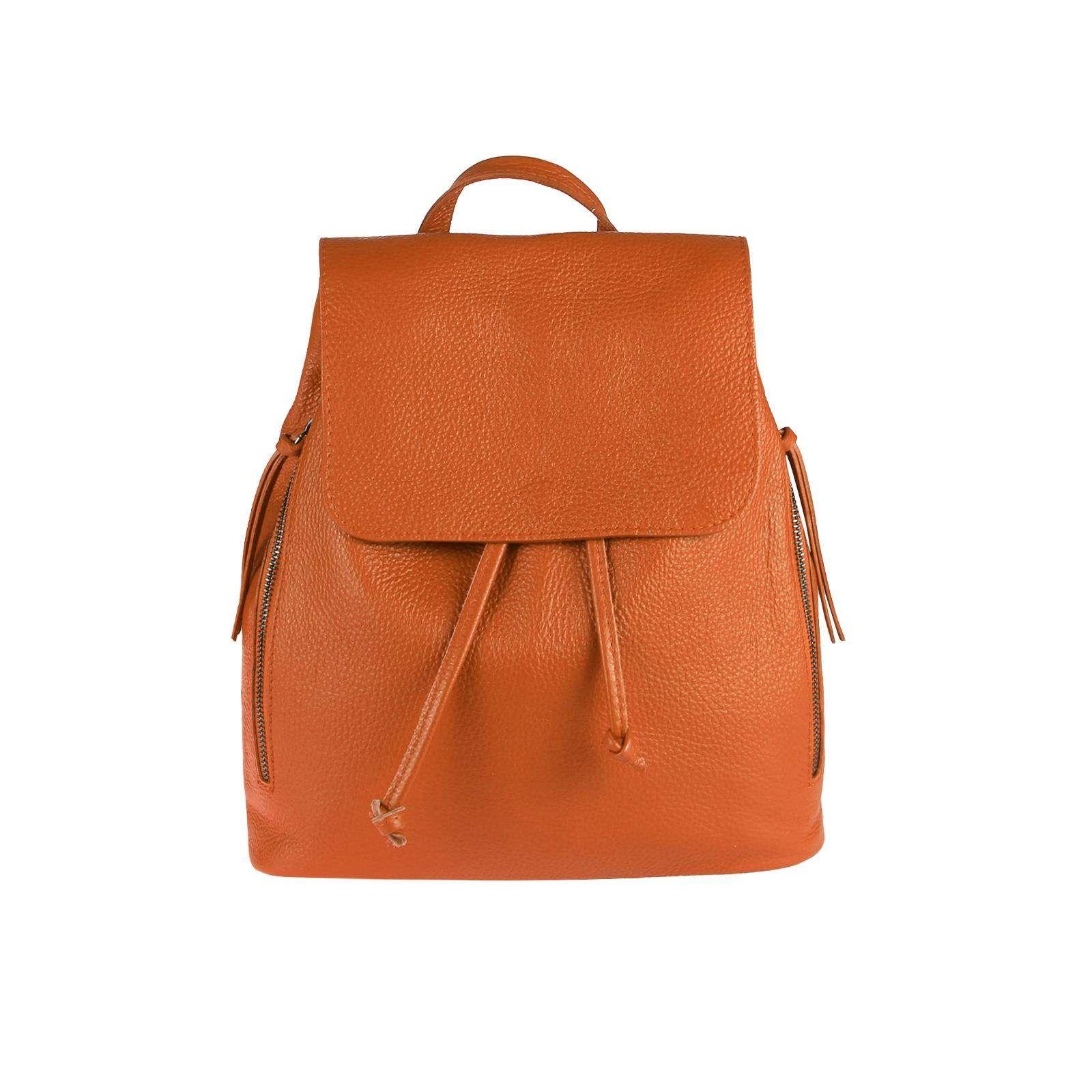 8b8a586eb715e OBC MADE IN ITALY DAMEN Echt LEDER RUCKSACK Cityrucksack Lederrucksack Tasche  Schultertasche Ledertasche Stadtrucksack Handtasche Daypacks