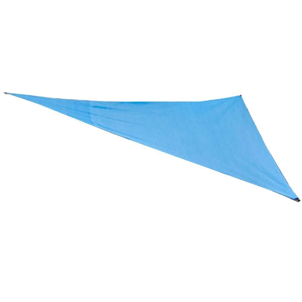 King Canopy 16 ft  W x 16 ft  D Blue Triangle Sun Shade Sail