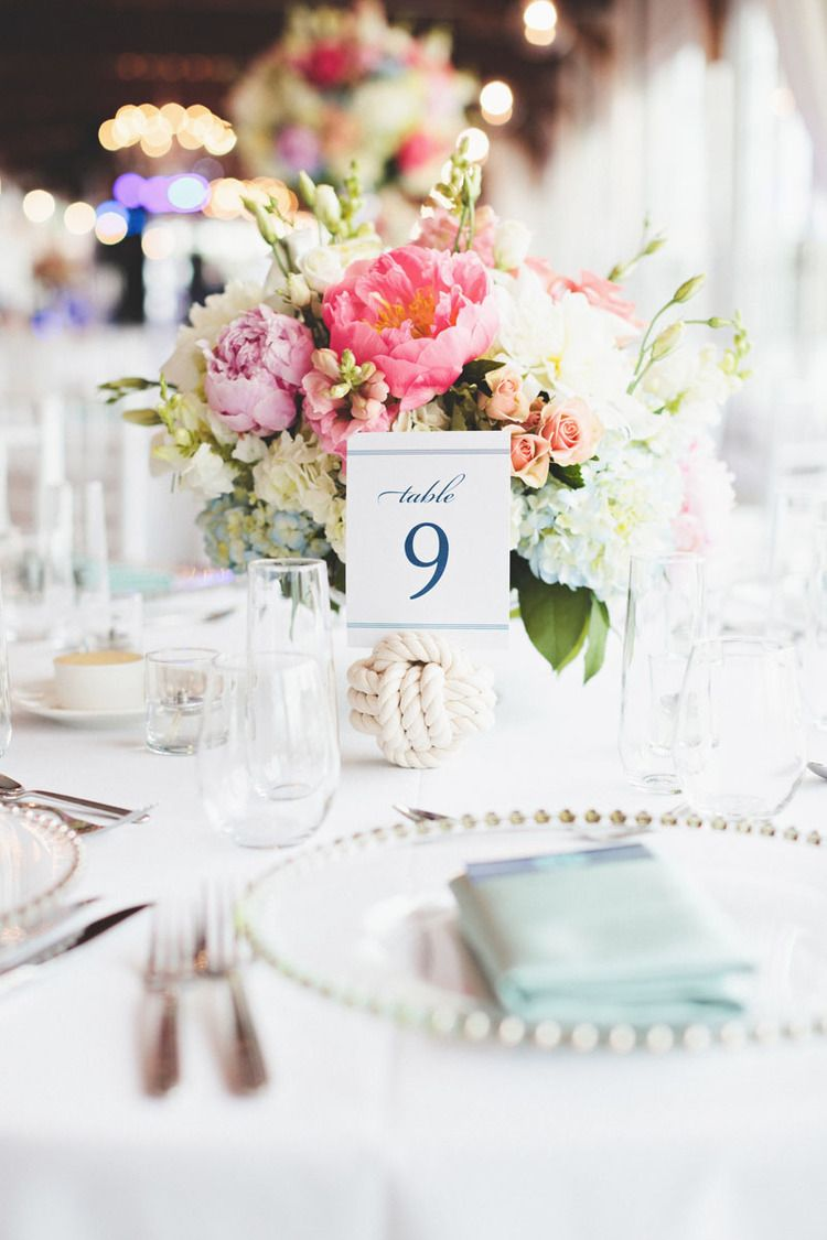Harbor Room #firstmatephotoco #capecodwedding #tablesetting #flowers ...