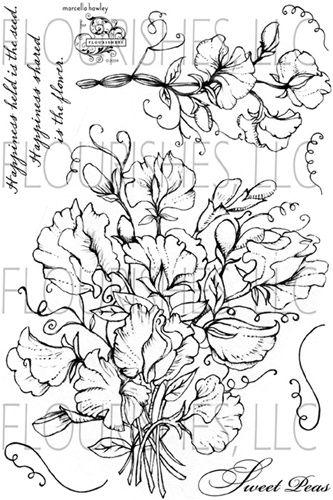 Sweet Peas Stamp Set Flourishes