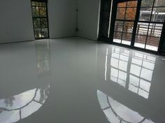High Gloss Bright White Epoxy Garage Floor And Walls Google Search