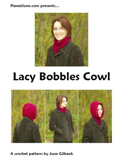 PDF Lacy Bobbles Cowl CROCHET PATTERN by PlanetJune on Etsy