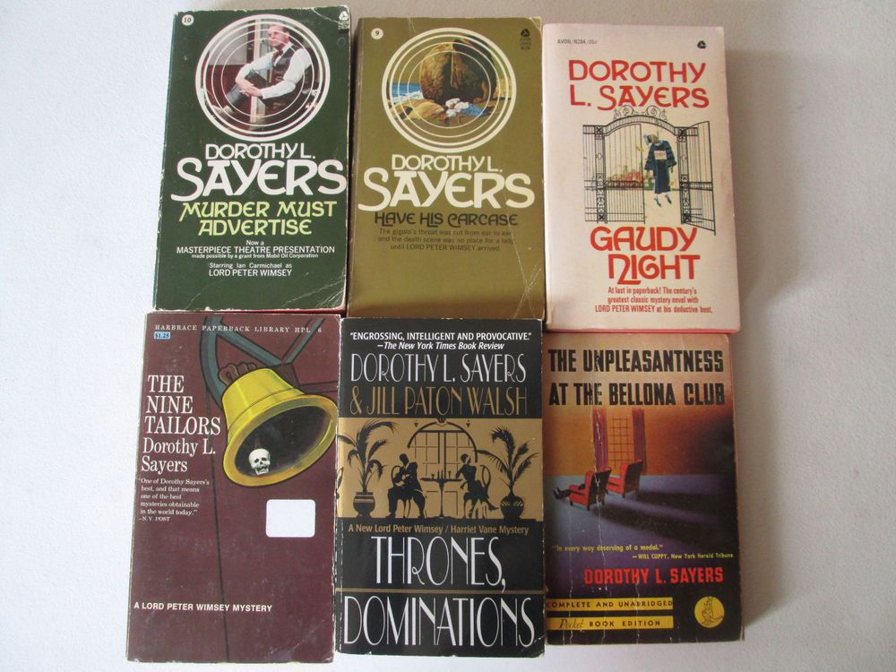 Dorothy sayers lot of 6 mystery paperbacks lord peter
