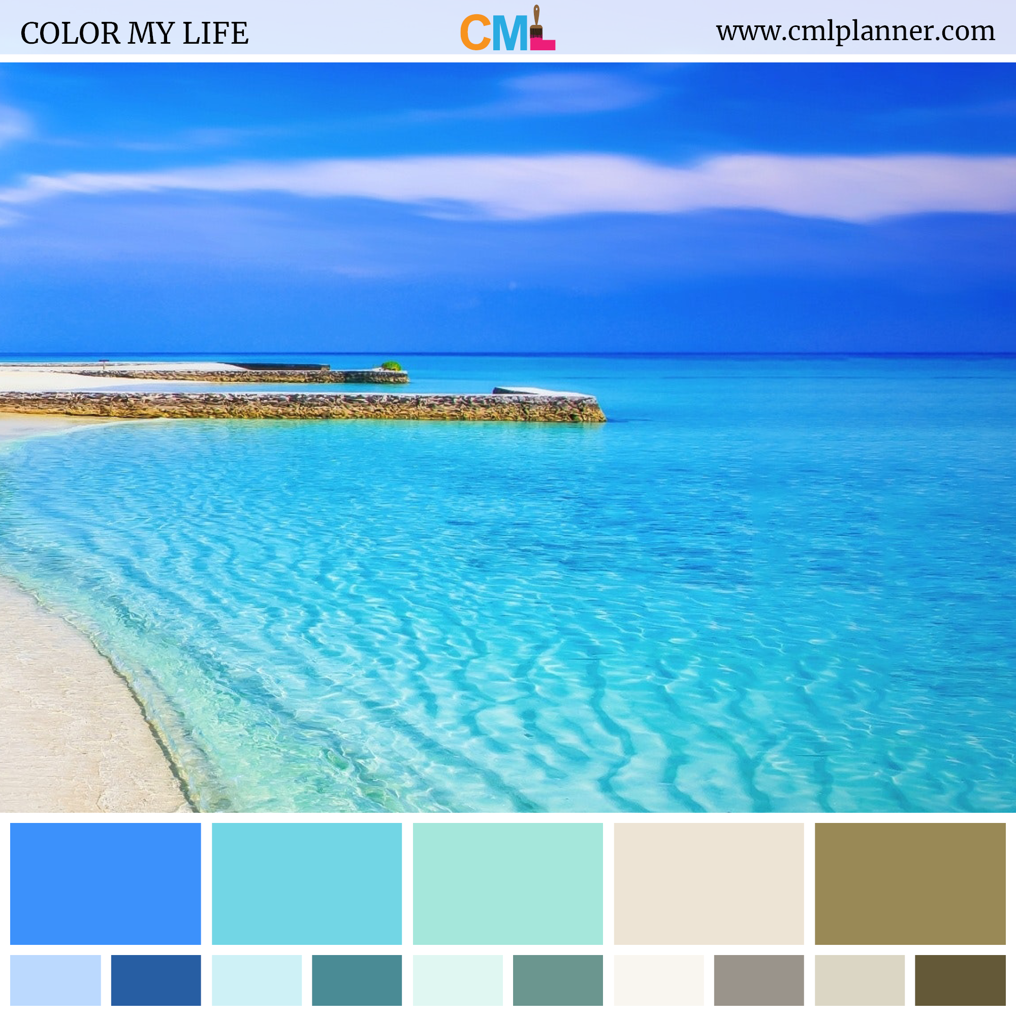 Color Palette 073018 Color My Life In 2020 Color Palette Blue Pallets Beach Color