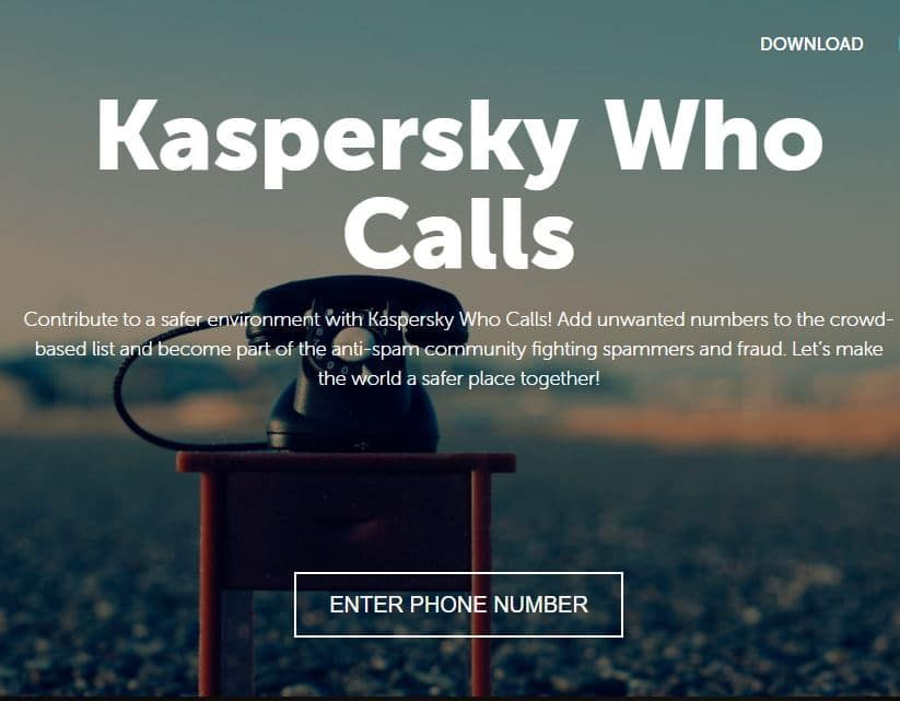 Kaspersky Who Calls fraud prevention Mobile security