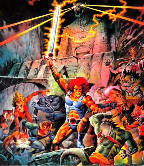 80s-90s-stuff:  Thundercats - 80s toy/cartoon artwork