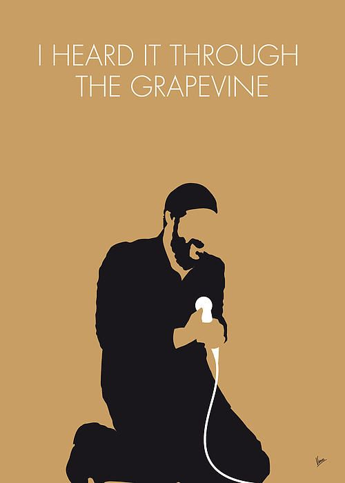 No060 My Marvin Gaye Minimal Music Poster With Images Music