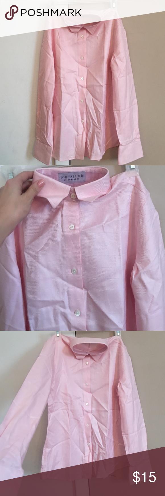 Mens Slim Fit Light Pink Dress Shirt