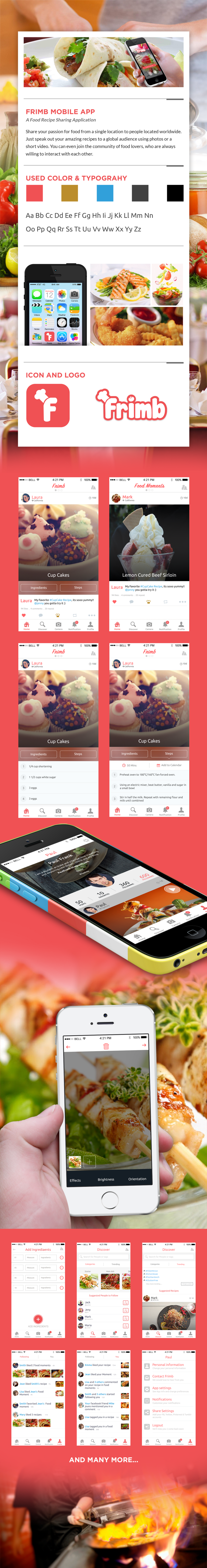 Food recipe sharing app with awesome social features that entertain food recipe sharing app with awesome social features that entertain and engage foodies design and forumfinder Image collections