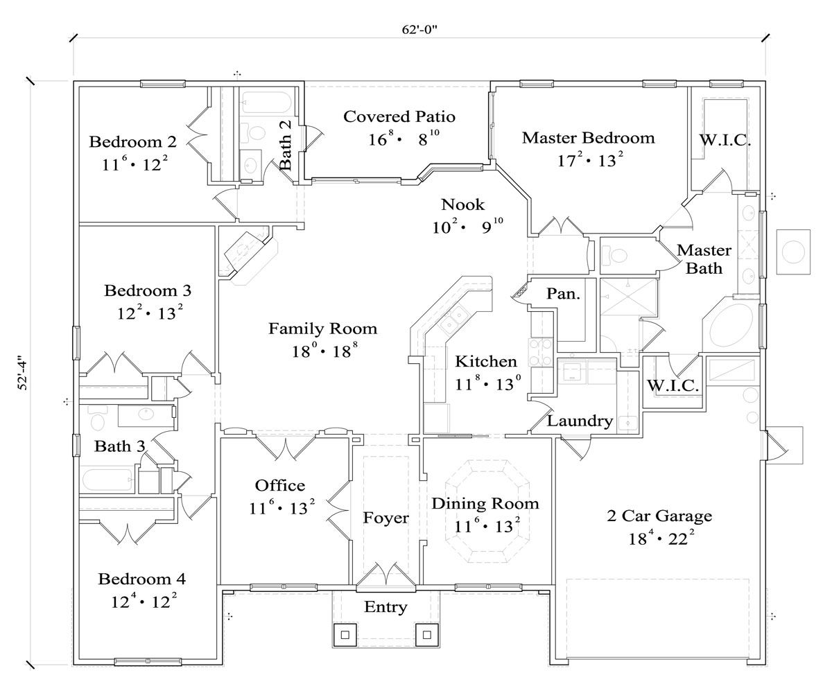 The Nathaniel 4430 - 4 Bedrooms and 3.5 Baths | The House ...