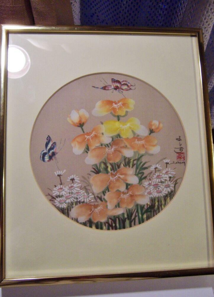 Original John Cheng Gouache Painting butterflies in flower garden  pretty    eBay - #butterflies #cheng #eBay #Flower #Garden #gouache #John #Original #painting #pretty