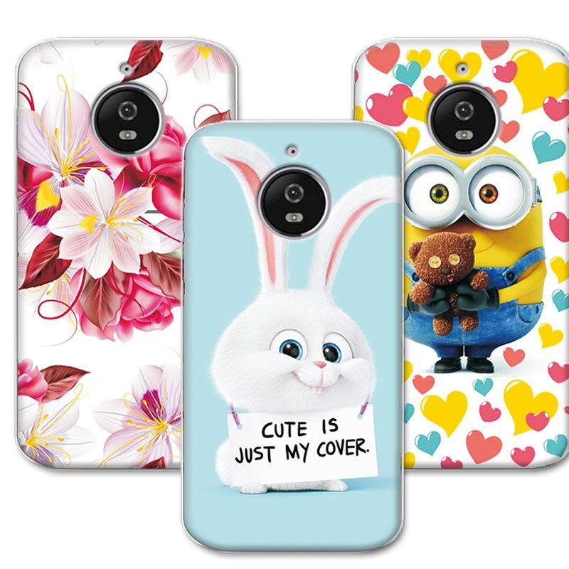 557c8573d Cute Cartoon Soft TPU Case Coque For Moto E4 Plus 5.5
