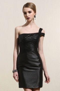 Robe courte sequin noir