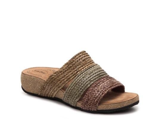 Olive Brown Tan Taos Ladies Prudence Wedge Sandal