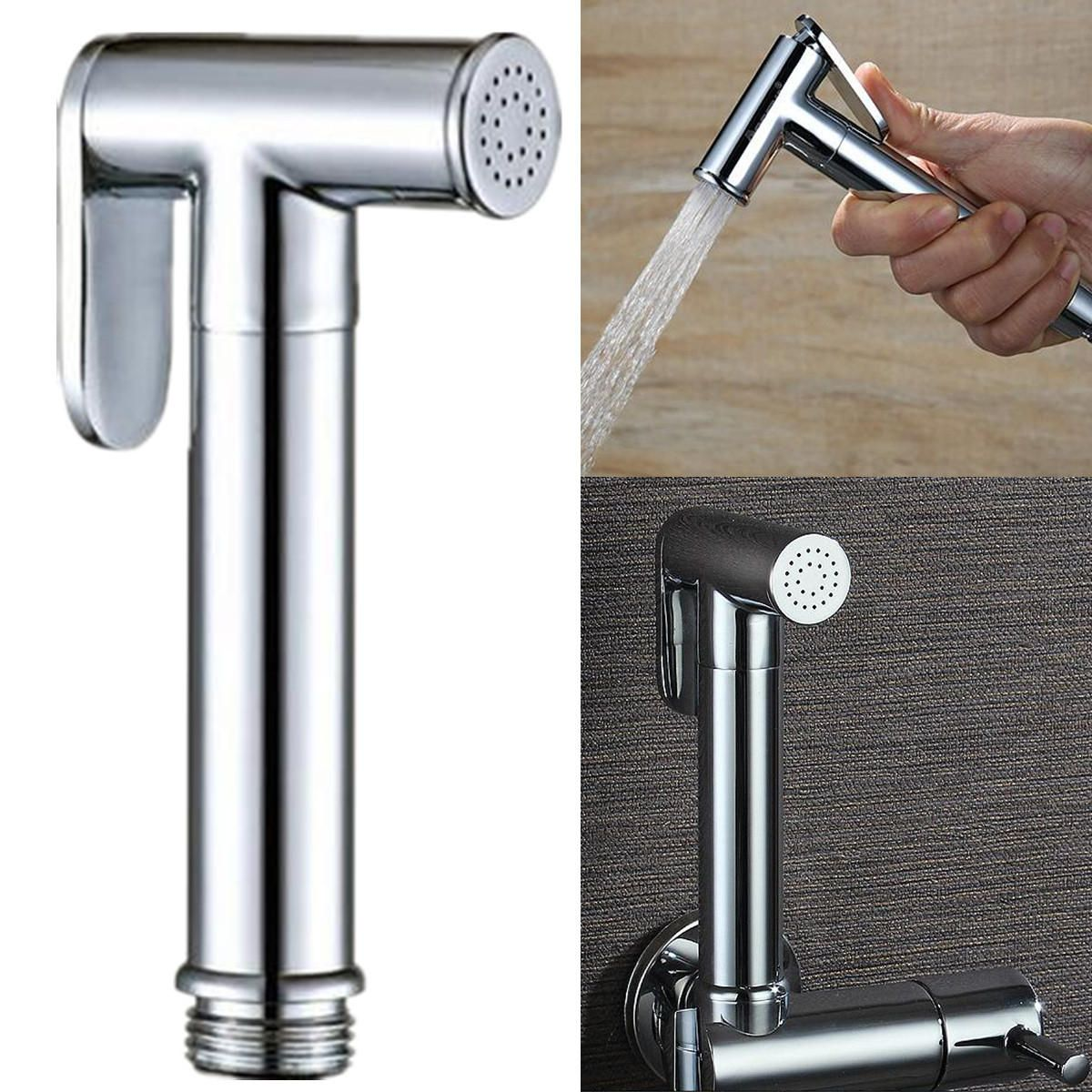 Portable Toilet Handheld Metal Plated Bidet Sprayer Douche kit Without Hose
