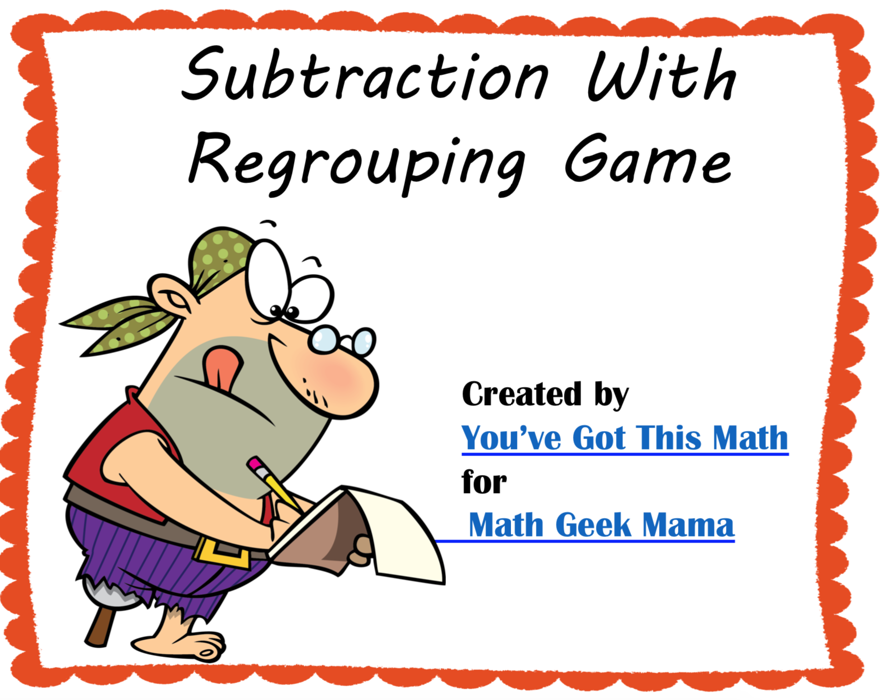 Free Subtraction Game To Build Understanding Of