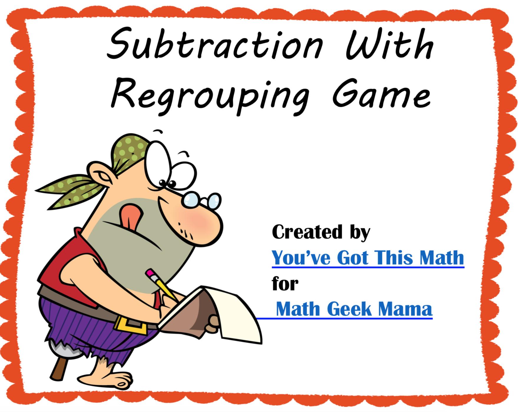 Free Subtraction Game To Build Understanding Of