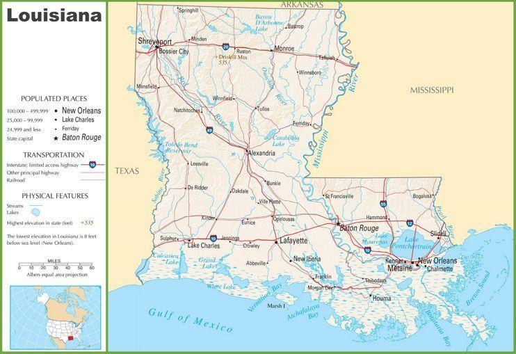 Louisiana Highway Map Maps Pinterest Highway Map