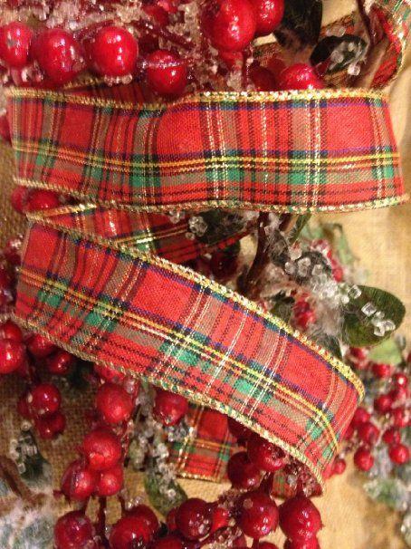 "Amazon.com: Tartan Plaid Red & Green Christmas Ribbon - 1.5"" X 10 Yd Cut: Arts, Crafts & Sewing"