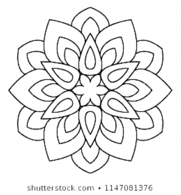 Easy Mandala Basic And Simple Mandalas Coloring Book For Adults Seniors And Beginner Mandalas Flowe Simple Mandala Mandala Coloring Pages Mandala Coloring