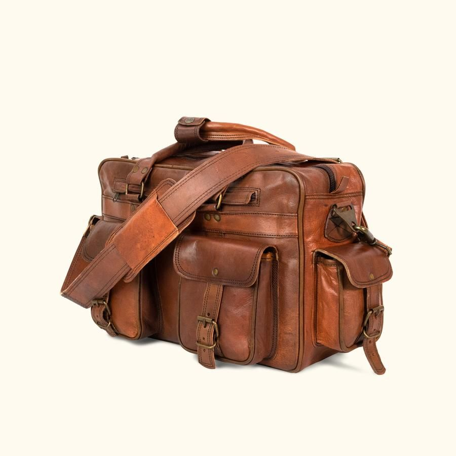 02aeecf12b76 Leather Messenger Bag - Everett Vintage