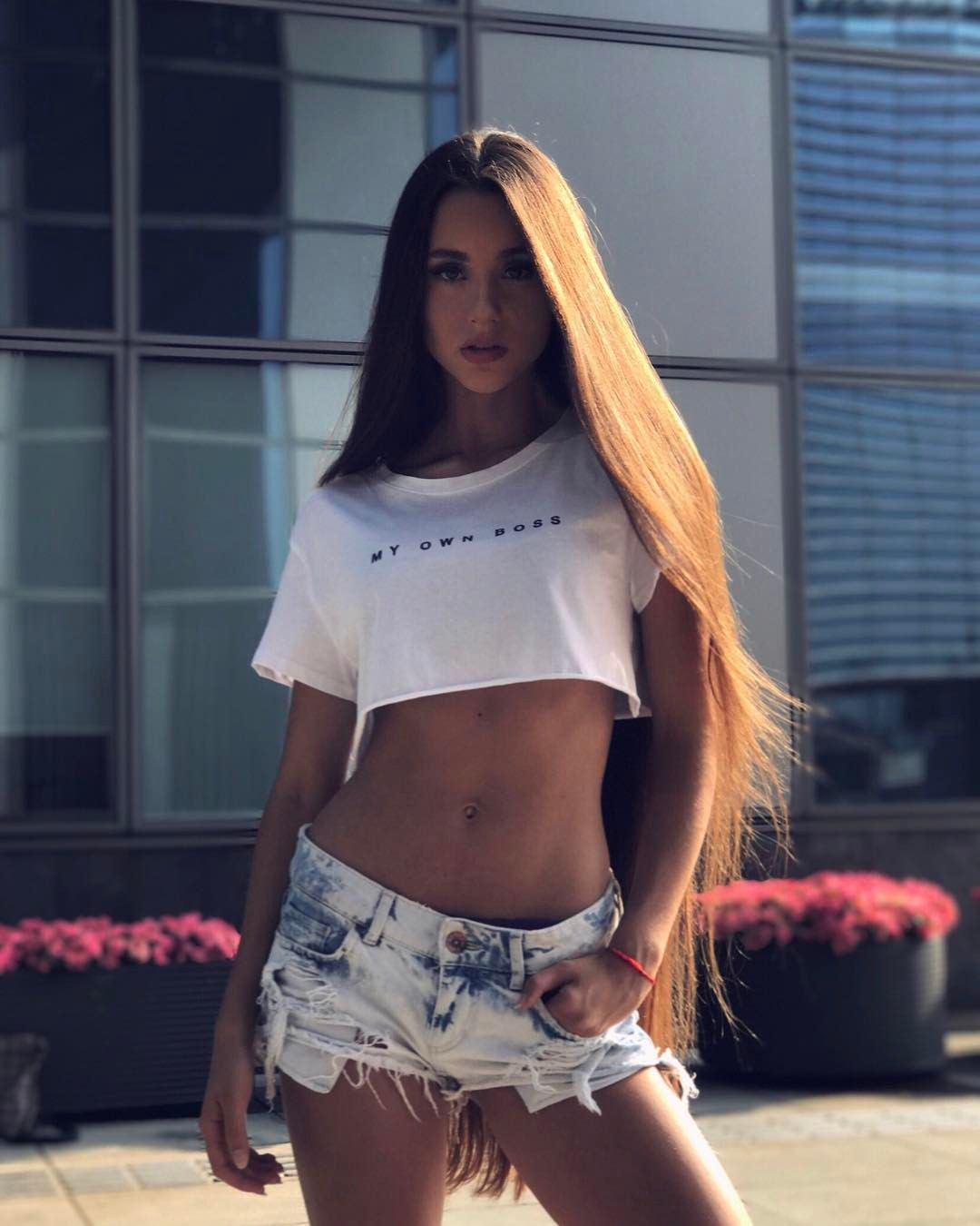 Gabriella Onion Booty in vilnius#lithuaniangirl#happy#brunette#darkhair#longhair | long