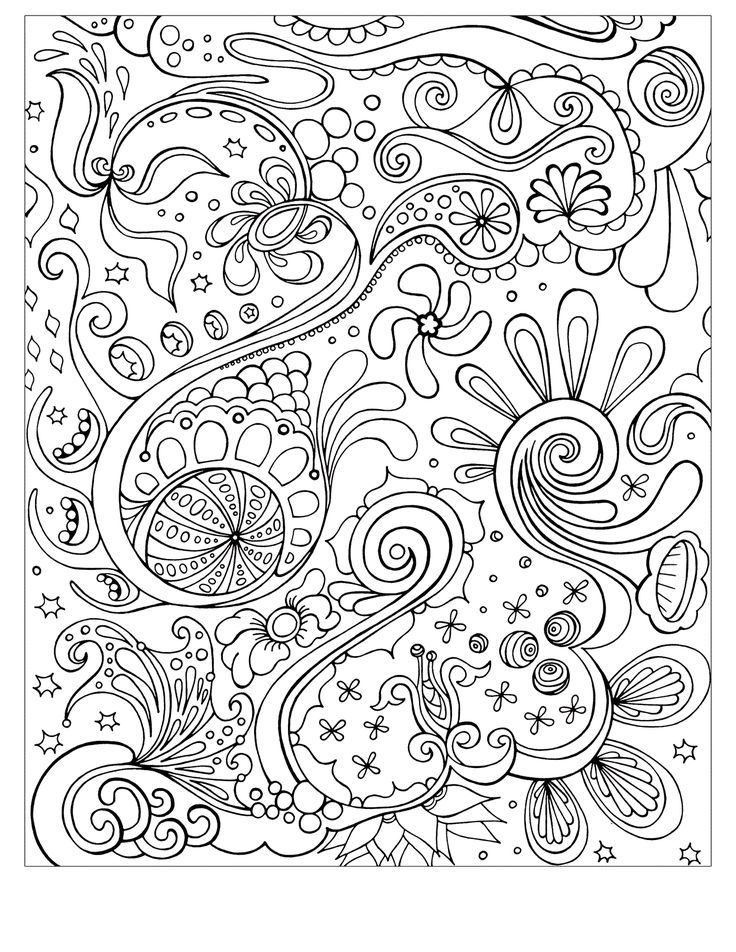 Free Printable Abstract Coloring Pages For Kids | Ausmalbilder