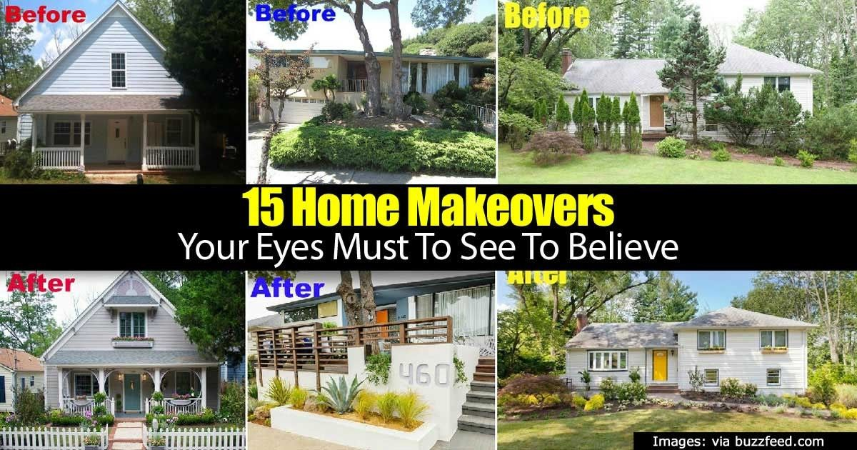 Your house may not look the way you always imagined it. These examples will show you that amazing home makeovers are possible. Of course it helps to have someone with some design skills and ideas for a good first impression. Related Reading: 39 Surprisingly Simple Ways To Boost... #fal #spr #sum
