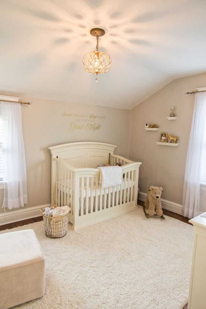 Soft Neutral Nursery Love To See Gold In A