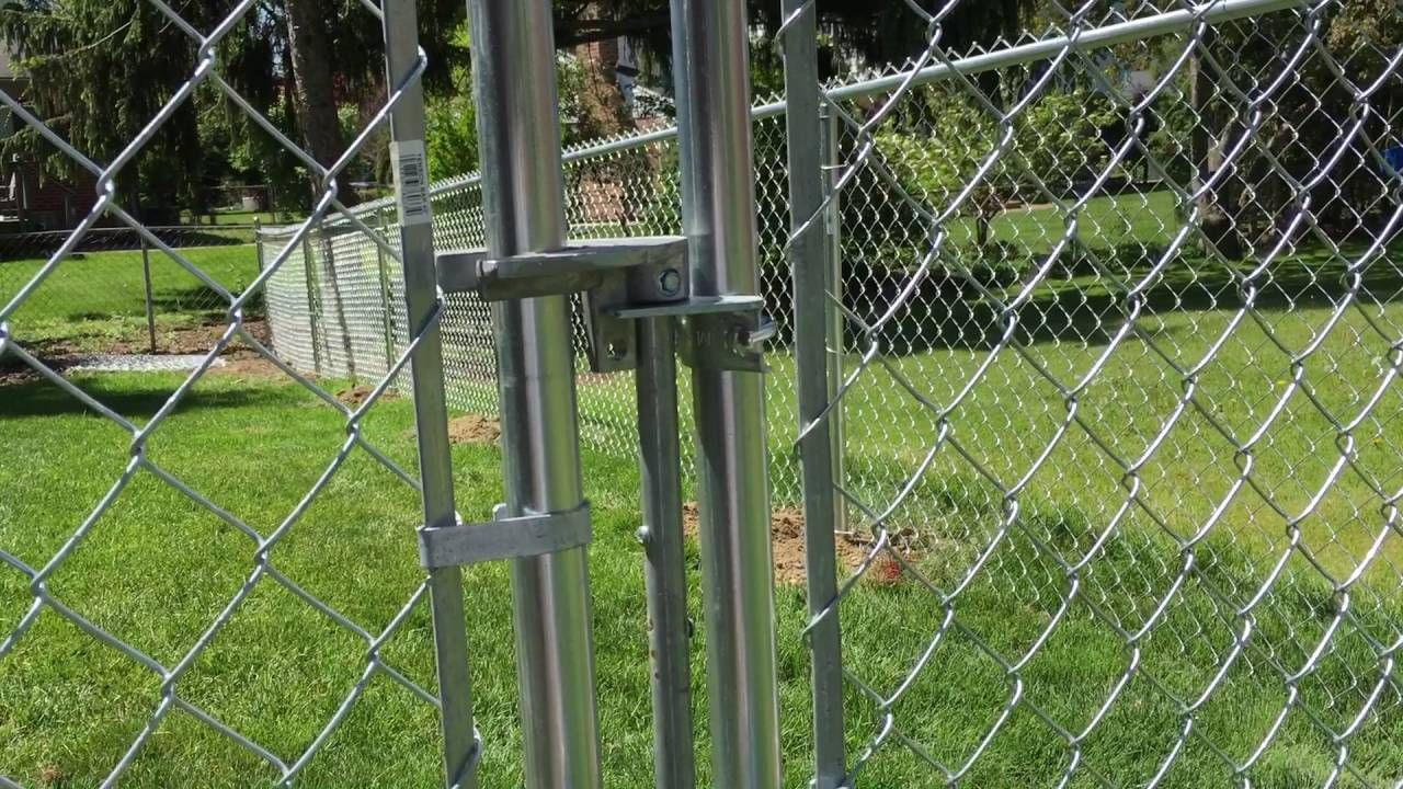 How To Use Adjust A Chain Link Gate Latch Chain Link Fence Gate