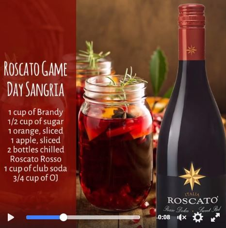 Pin By Roscato Wines On Recipes Club Soda Food Sangria