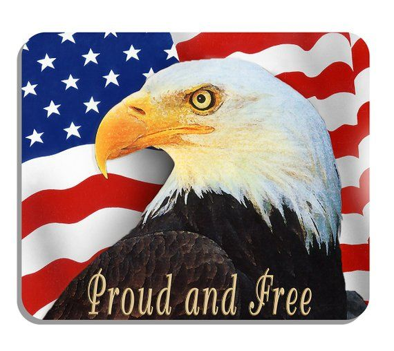 Photo Mouse Pad Free Personalizing! Bald Eagle