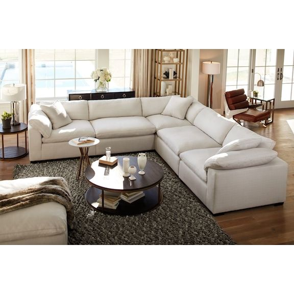 Plush 6 Piece Sectional House Large Furniture Living Room