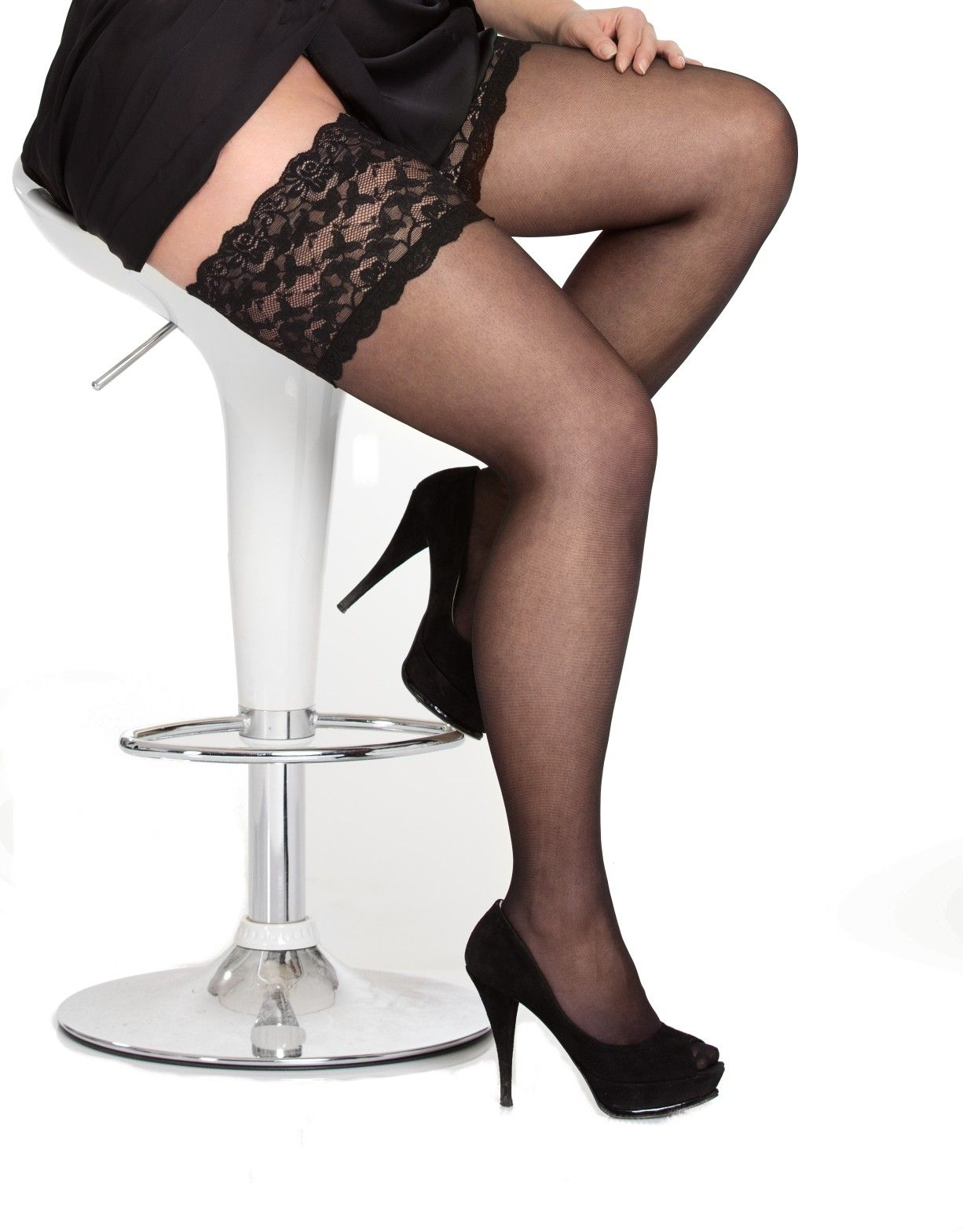 a30233f9c19 plus size stay up thigh highs with lace bands