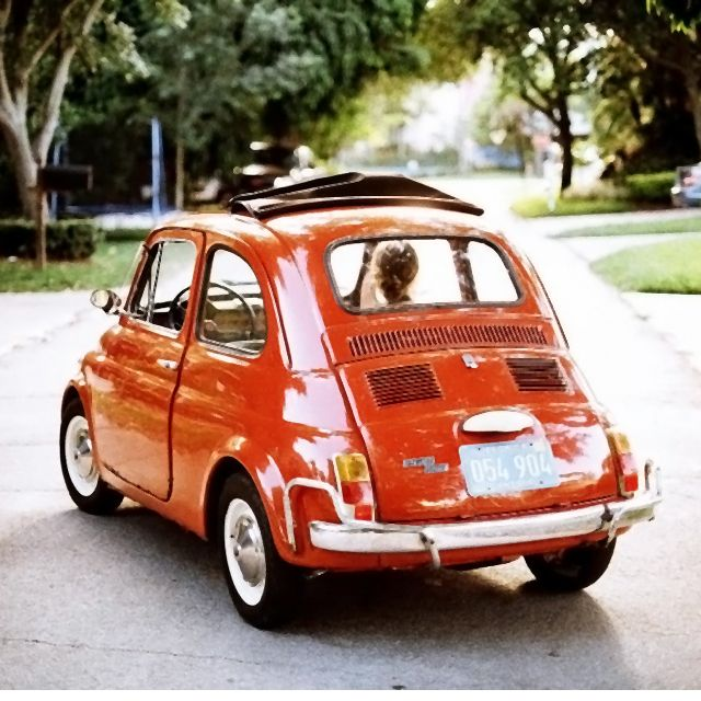 vintage fiat 500 the de luxe version lusso 500l loved mine it was black so much fun to. Black Bedroom Furniture Sets. Home Design Ideas
