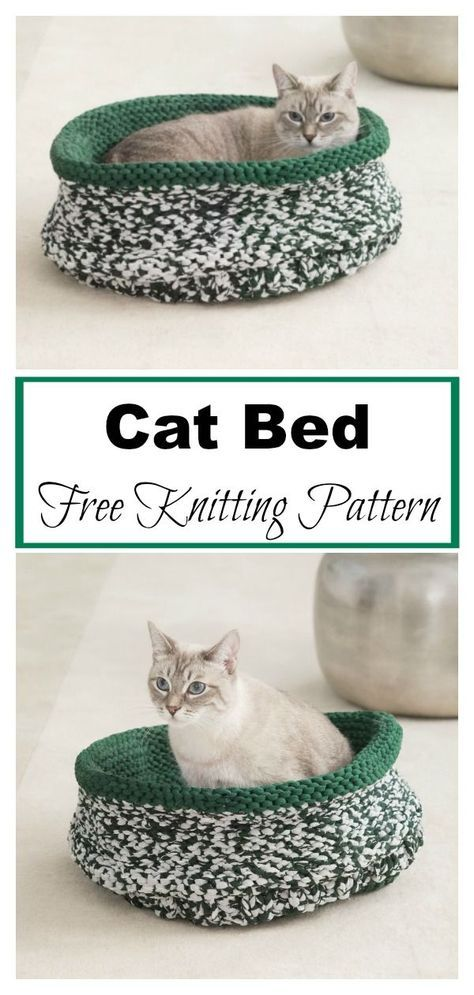 Photo of Simple Cat Bed Free Knitting Pattern