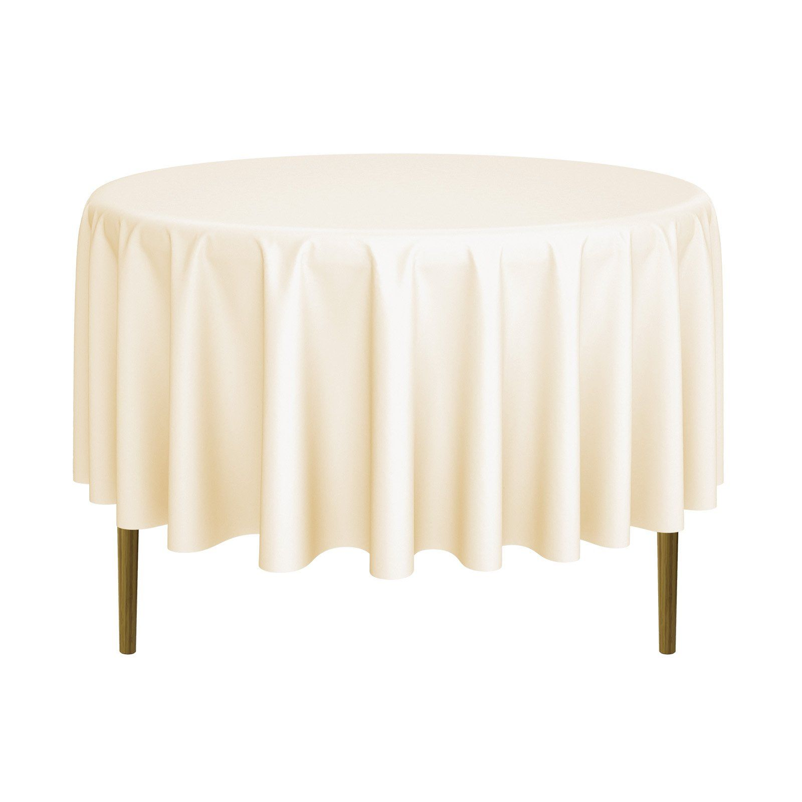 20 Pack Round Wedding Banquet Polyester Fabric Tablecloths More