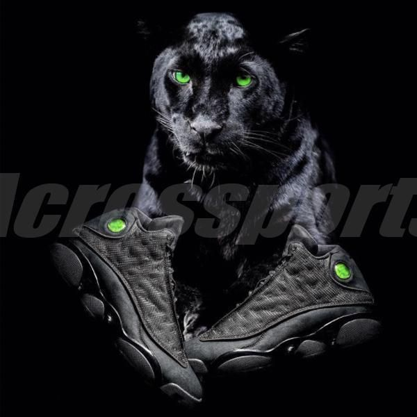 save off 4e91f 66ad2 Nike Air Jordan 13 Retro Black Cat XIII AJ13 Mens Shoes Sneakers 414571-011