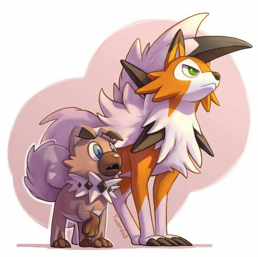 Rockruff And Dusk Lycanroc Rockruff Pokemon Dog Pokemon Cute Pokemon