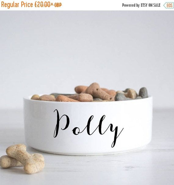 Name Pet Bowl Dog Bowl Personalised Dog Bowl Custom Cat Bowl Ceramic Dog Bowl Personalized Pets Pet Gift P40 Ceramic Dog Bowl Dog Food Bowls Dog Bowls