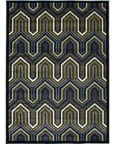 eCarpetGallery Chroma Black/Green Rug (5'5 x 7'7) (Black, Green Black, Light Green Rug (5' x 7')), Size 5' x 7' (Polypropylene, Oriental)