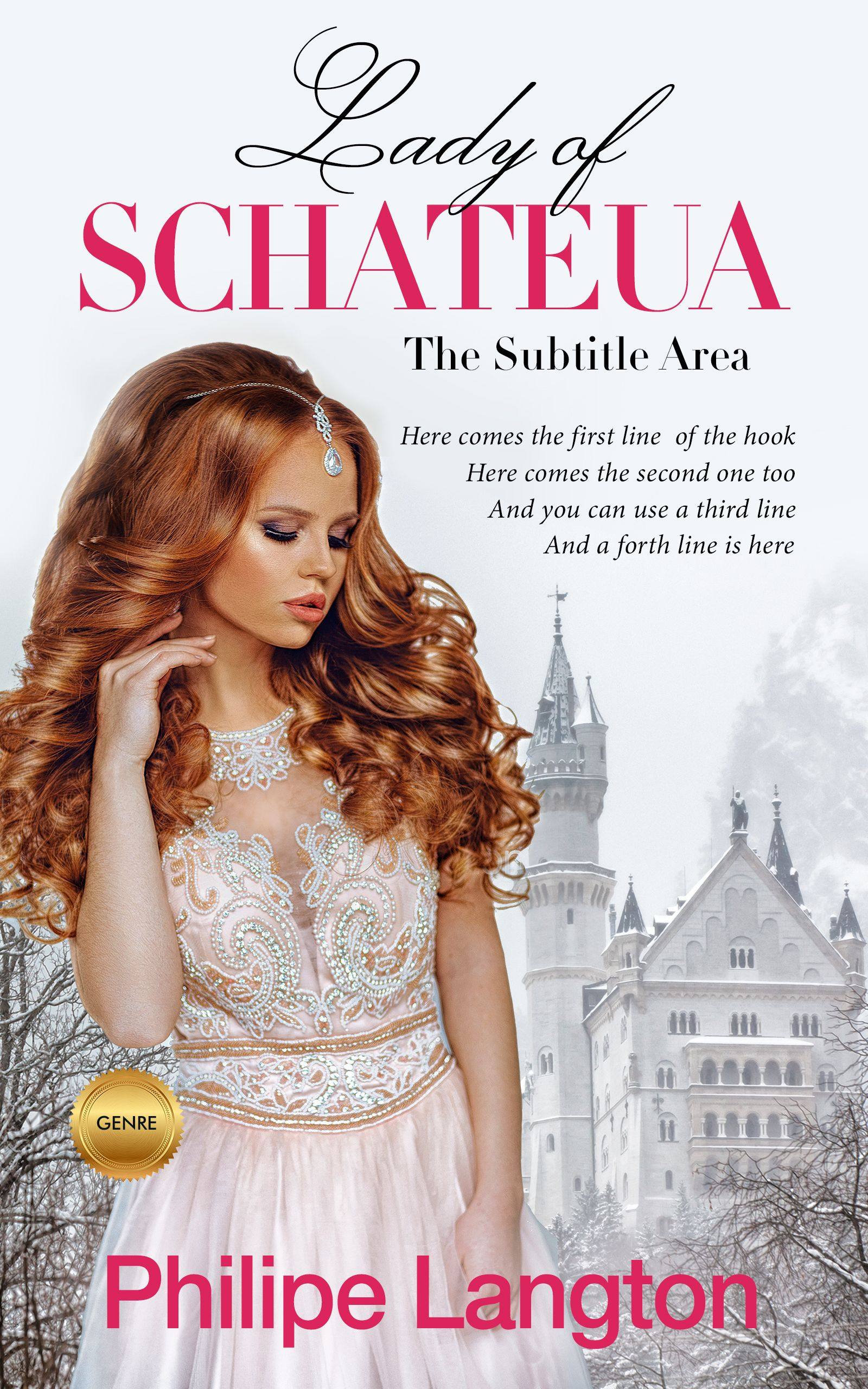 Bon jour new fiction royal romance premade book cover