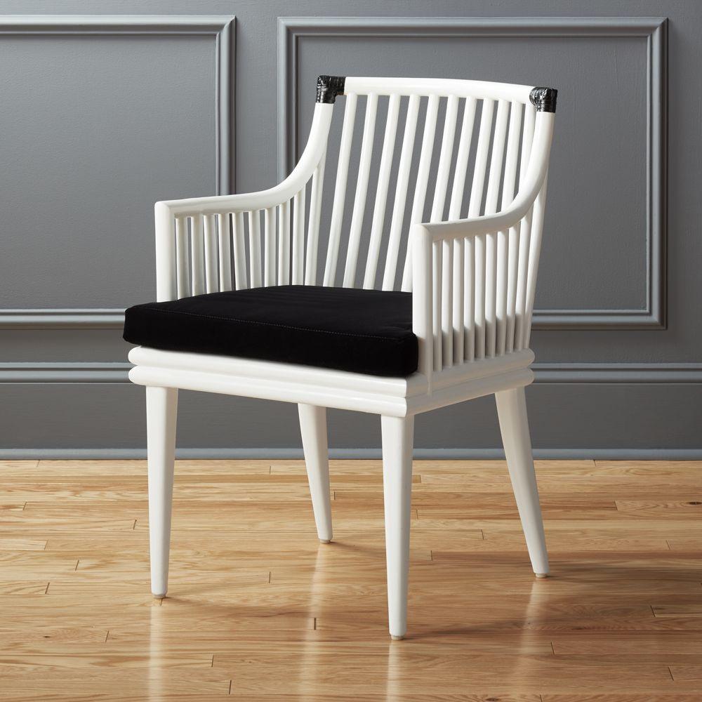 Mae White Rattan Chair Woven chair, Plastic patio chairs