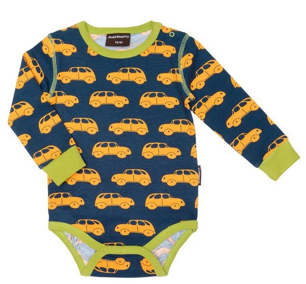 Jungen Baby Body Langarm Little Car Maxomorra