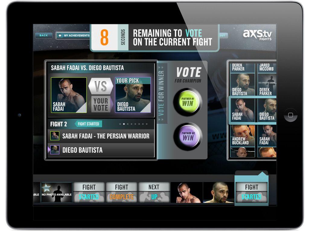 AXS TV Fights Companion iPad App Axs tv, Ipad