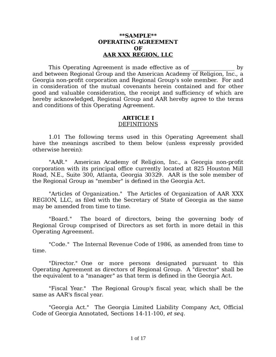 Llc Operating Agreement Template Fillable Printable Pdf Pertaining To Corporation Operating Agreement Template 10 Professional Agreement Templates Corporate